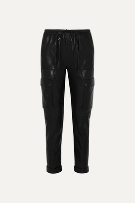 Tom Ford Leather Track Pants - Black