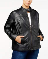 Joujou Jou Jou Plus Size Faux-Leather Jacket