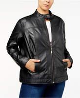 Joujou Jou Jou Trendy Plus Size Faux-Leather Jacket