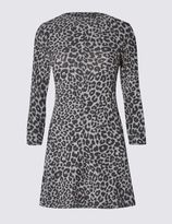 Marks and Spencer Animal Print 3/4 Sleeve Swing Tunic