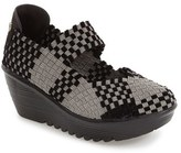 Bernie Mev. Women's Lulia Woven Mary Jane Platform Wedge