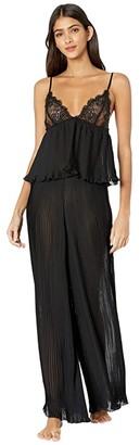 Bluebella Atalanta Cami and Trousers Set (Black) Women's Pajama Sets