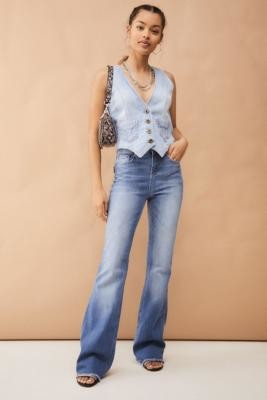 Miss Sixty Denim Flare Jeans - Blue 24 at Urban Outfitters