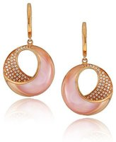 Frederic Sage Small Pink Mother-of-Pearl & Diamond Venus Twist Earrings