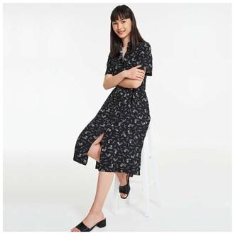 Joe Fresh Women's Chest Pocket Shirt Dress, Print 2 (Size L)