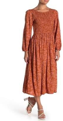 Susina Boho Printed Smocked Midi Dress (Regular & Petite)