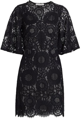 See by Chloe Short-Sleeve Lace Mini Dress