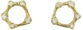 N+A New York Diamond Circle Stud Earrings - Yellow Gold