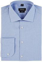 Barneys New York Men's Micro-check Trim Fit Dress Shirt-BLUE, NO COLOR