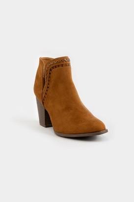 francesca's Jessie Stack Heel Boot - Tan