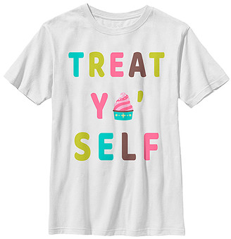 Fifth Sun Tee Shirts WHITE - White 'Treat Yo' Self' Crewneck Tee - Kids