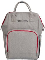 Lekebaby Multifunction Diaper Bag Backpack with Changing Pad and Stroller Straps for Moms & Girls Travelling Daily Use