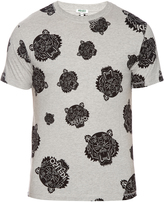 Kenzo Tiger-head print cotton T-shirt