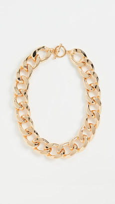 "Kenneth Jay Lane 18"" Gold Large Links Chain Necklace"