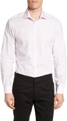 John Varvatos Regular Fit Print Stretch Dress Shirt