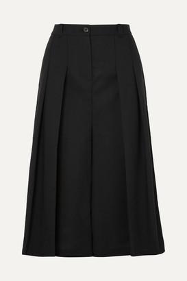 McQ Atami Pleated Wool-twill Culottes - Black