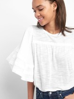 Gap Layer flutter-sleeve top