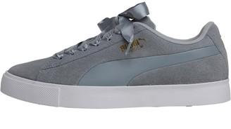 Puma Womens Suede G Golf Shoes Quarry