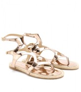 PEACHY METALLIC LEATHER SANDALS