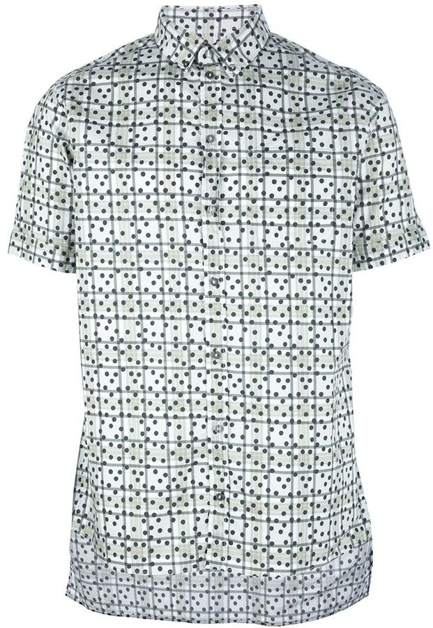 Dolce & Gabbana polka dot checked shirt