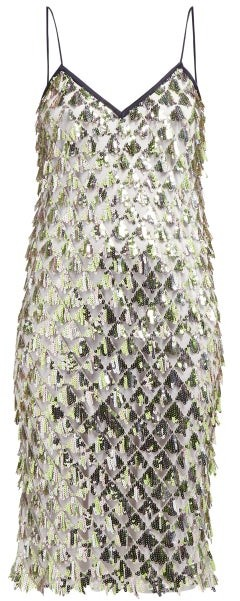 No.21 No. 21 - Jersey Lined Sequin Dress - Womens - Silver