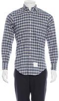Thom Browne Plaid Flannel Shirt