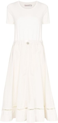 Moncler Logo Trim Midi Dress