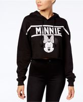 Disney Juniors' Minnie Mouse Cropped Graphic Hoodie