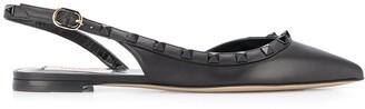Valentino Rockstud slingback slippers