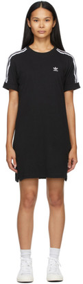 adidas Black 3-Stripe Adicolor Tee Dress