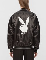 Joyrich Playboy Embroidered Satin Jacket