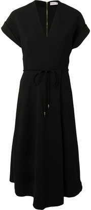 Rebecca Vallance V-neck tie-waist dress