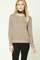 Forever 21 FOREVER 21+ Contemporary Marled Sweatshirt