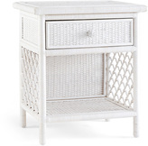 Serena & Lily Marley Side Table - Whitewashed