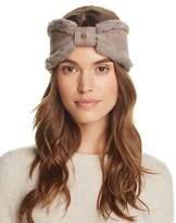 UGG Shearling Trim Bow Headband