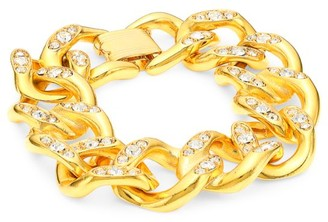 Kenneth Jay Lane 22K Yellow Goldplated & Embellished Bracelet