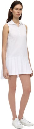 Thom Browne Mini Pleated Cotton Pique Tennis Dress
