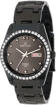Sartego Men's SBGU13 Classic Analog Black Face Dial Swarovski Watch