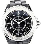 Chanel J12 H0950 Black Ceramic Diamond Automatic 38mm Watch