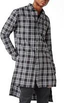 Topman Men's Aaa Collection Extra Longline Plaid Shirt