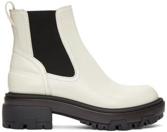 Rag & Bone Off-White Leather Shaye Boots