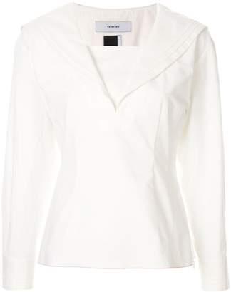 Facetasm shawl collar blouse