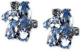 Earrings, Silver-Tone Blue Stone Cluster Stud Earrings