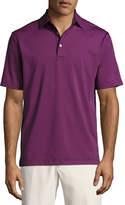 Peter Millar Commander Striped Short-Sleeve Jersey Polo Shirt