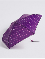 M&S Collection Polka Dot Compact Umbrella with StormwearTM