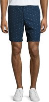 "Original Penguin 8"" Flag Ditsy-Print Shorts, Dark Blue"