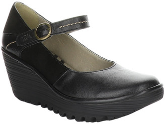 Fly London Yuko Leather Wedge Sandal