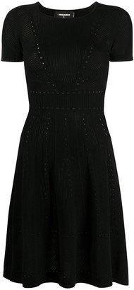DSQUARED2 Pointelle Knit Short Dress