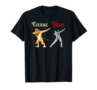Cowardly Dabbing Lion & Tin Man Shirt-Oz Halloween Shirt