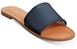 Jack Rogers Women's Sofia Leather Slide Sandals